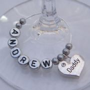 Daddy Personalised Wine Glass Charm